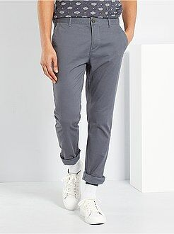 Pantalon - Pantalon chino slim twill stretch