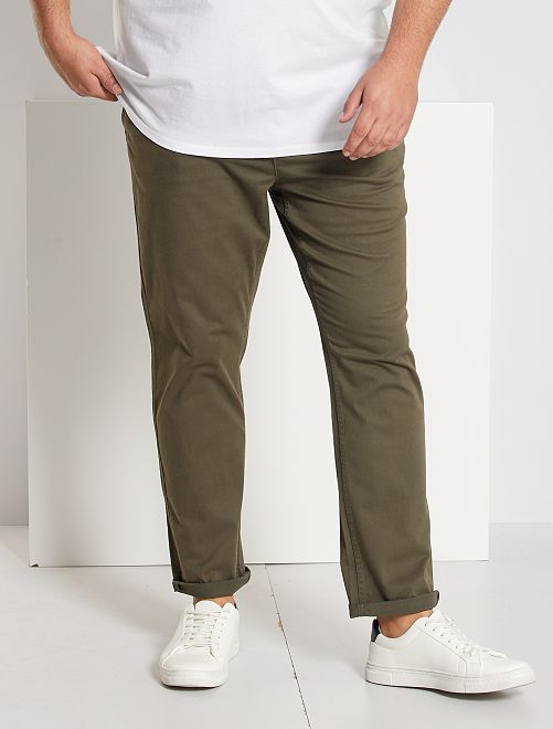 Pantalon chino slim twill stretch                                                                                                     kaki