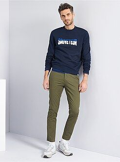 Pantalon - Pantalon chino slim twill stretch - Kiabi