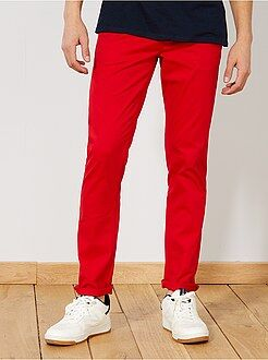 Pantalon chino slim twill stretch - Kiabi