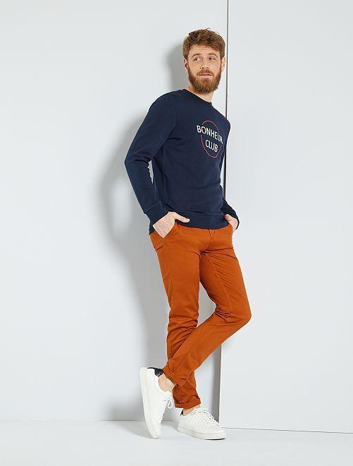 Pantalon chino slim twill stretch                                                                                                                                                                                                                                                                                                                                                                                                                 rouille