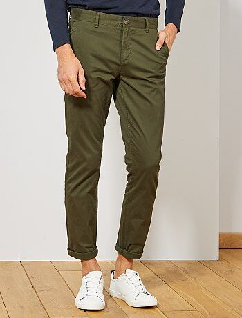 e8f5c3976293 Pantalon chino slim twill stretch - Kiabi