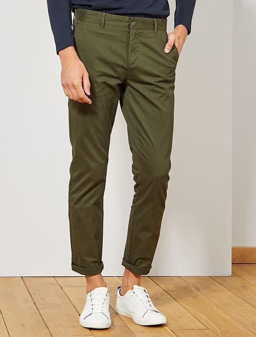 Pantalon chino slim twill stretch                                                                                                                                                                                                                                                                                                                                                                                                                 vert sapin