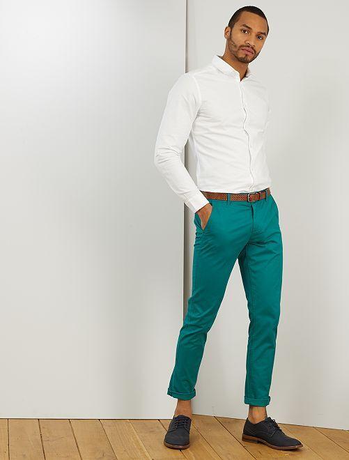Pantalon chino slim                                                                                                                                                                                                                                                                                                                                                                             vert