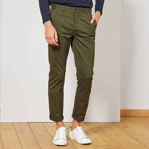 pantalon homme vert
