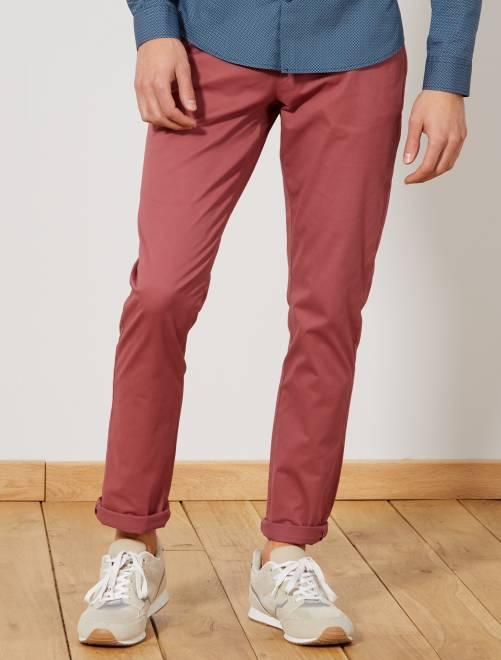 Pantalon chino slim                                                                                                                                                                                                                                                                                                                                                                                                                                                                 vieux rose