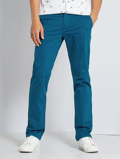 Pantalon chino stretch                                                                                                                 bleu canard