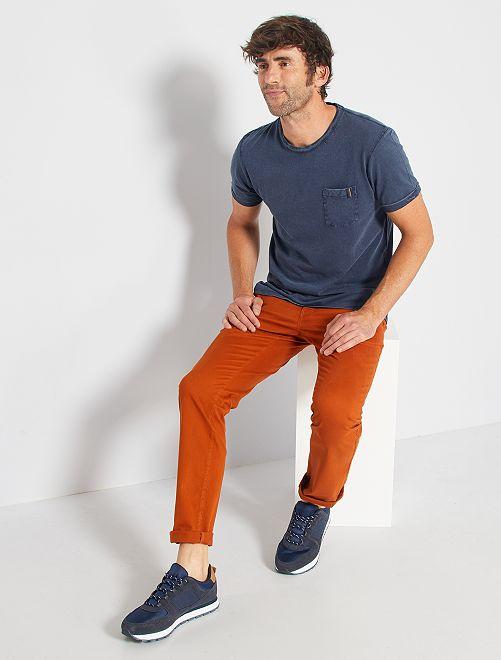 Pantalon chino stretch                                                                                                                 rouille