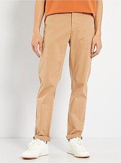 Homme du S au XXL Pantalon chino twill de coton stretch