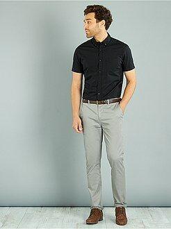 Pantalon chino twill de coton stretch