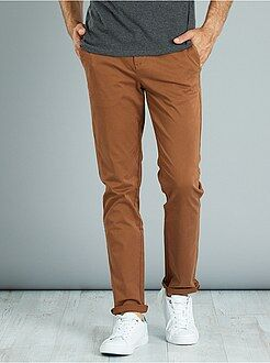 Pantalon - Pantalon chino twill de coton stretch