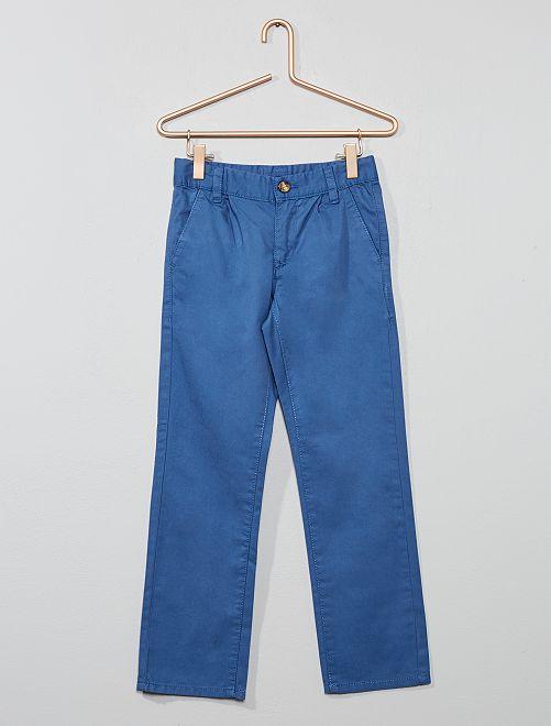 Pantalon chino uni                     bleu foncé Garçon