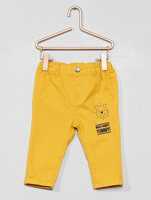 Pantalon chino 'Winnie'                             jaune moutarde