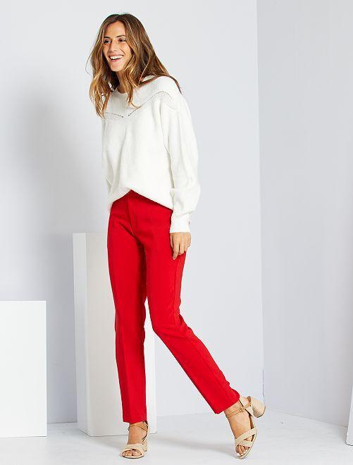 Pantalon city coupe droite                                                                 rouge