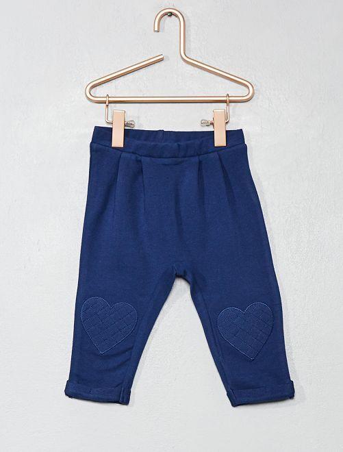 Pantalon cœur genoux                                 bleu marine Bébé fille