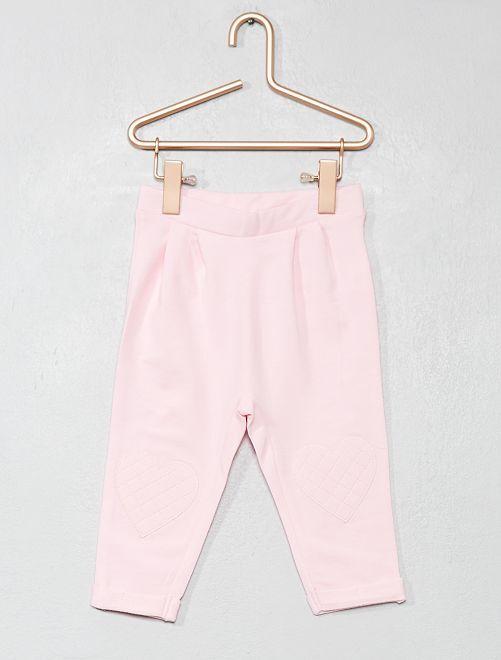 Pantalon cœur genoux                                                                 rose Bébé fille