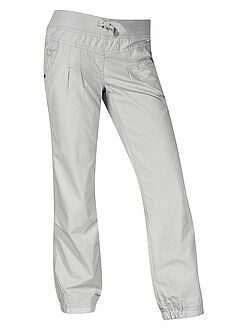 Pantalon comfort en popeline doublé