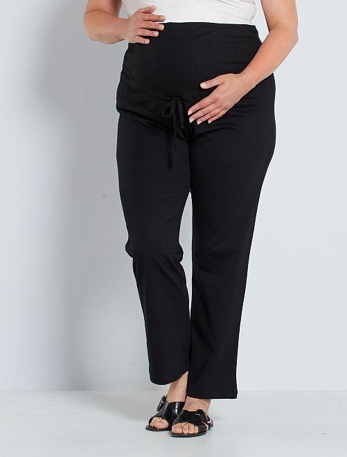 Pantalon confort de maternité éco-conçu                                         noir