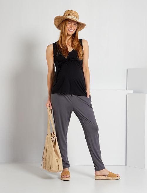 Pantalon confort de maternité                                                     gris