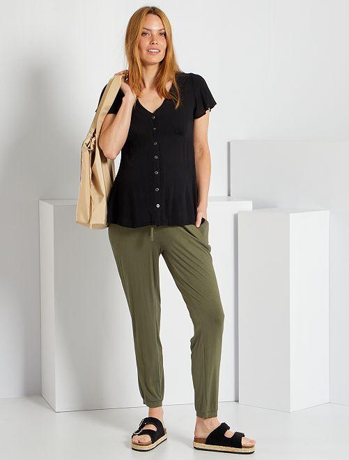Pantalon confort de maternité                                         kaki