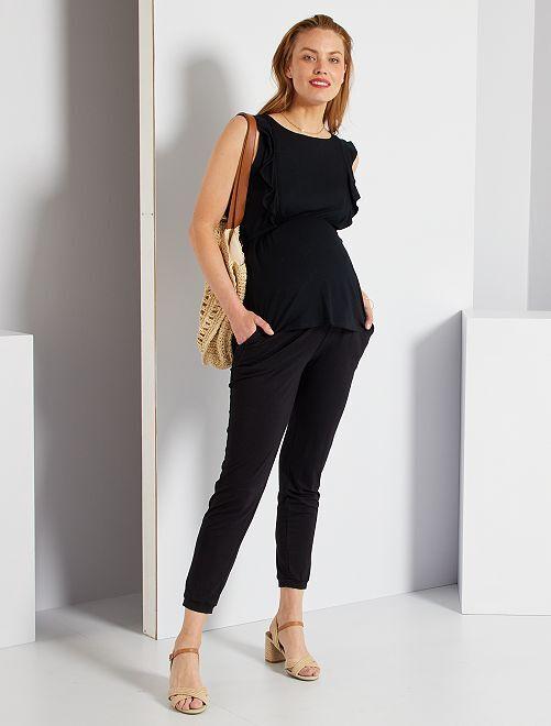 Pantalon confort de maternité                                 noir