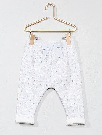 Pantalon confort imprimé 'lune' - Kiabi