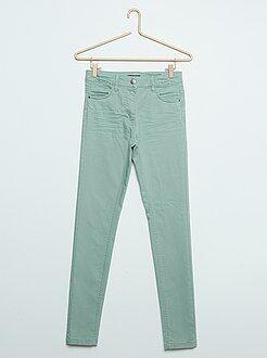 Pantalon couleur skinny en twill