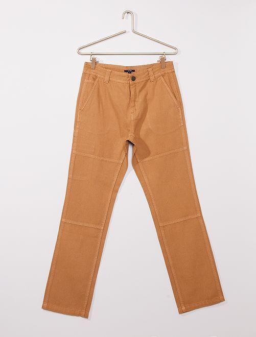 Pantalon coupe droite esprit charpentier                                         BEIGE