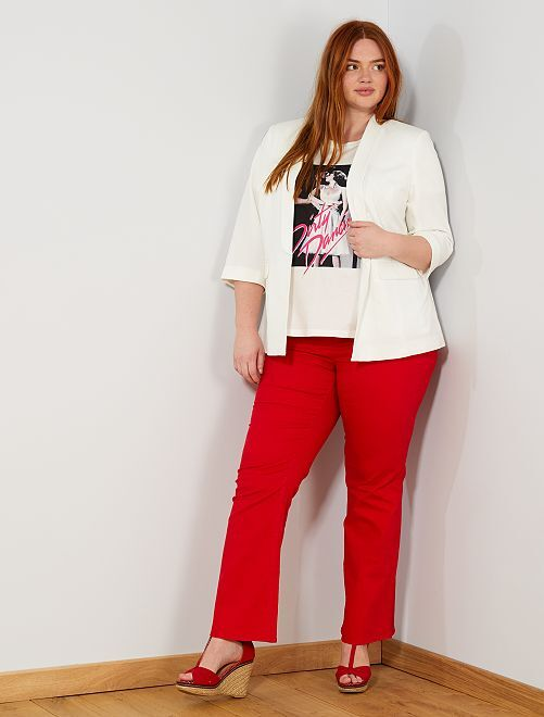 Pantalon coupe flare                                         rouge Grande taille femme