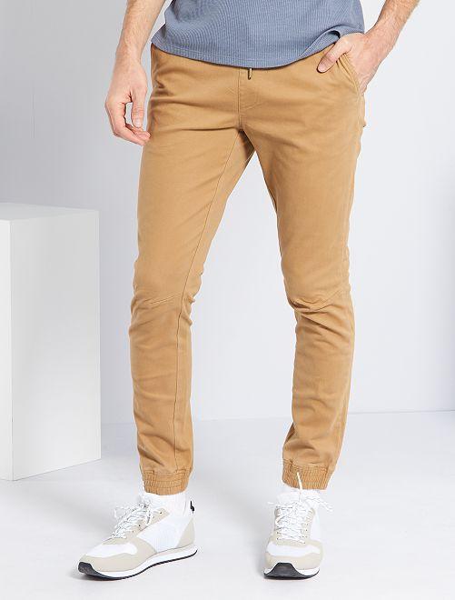 Pantalon coupe jogger                             beige