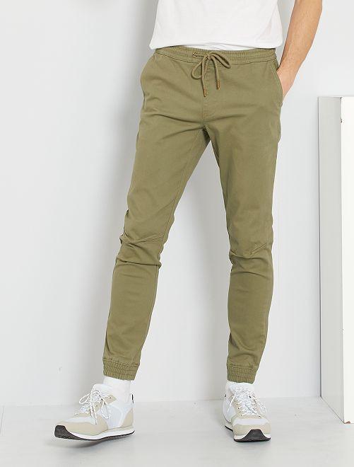 Pantalon coupe jogger                                                                 kaki
