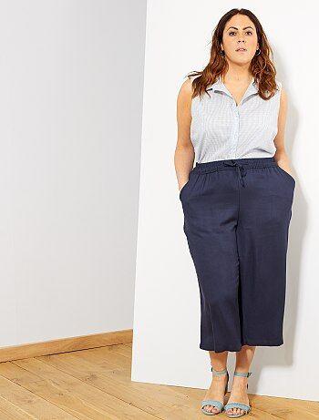 66f663d44fc Grande taille femme - Pantalon culotte fluide - Kiabi