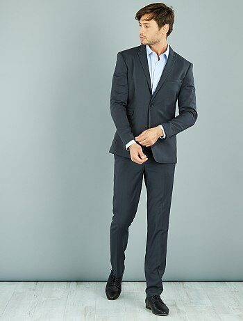 Pantalon de costume caviar stretch slim - Kiabi