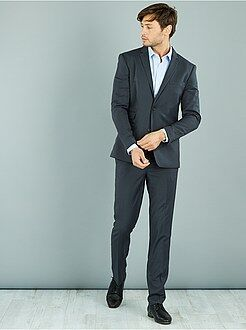 Homme du S au XXL Pantalon de costume caviar stretch slim