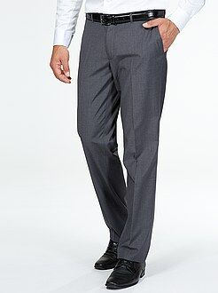 Homme du S au XXL Pantalon de costume coupe droite