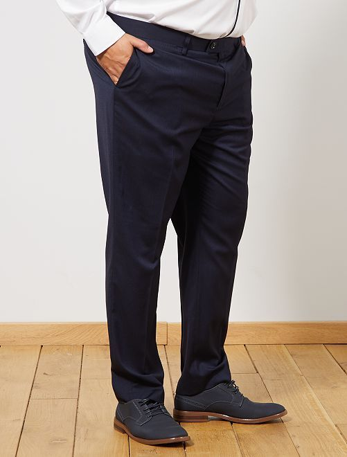 Pantalon de costume regular                             bleu