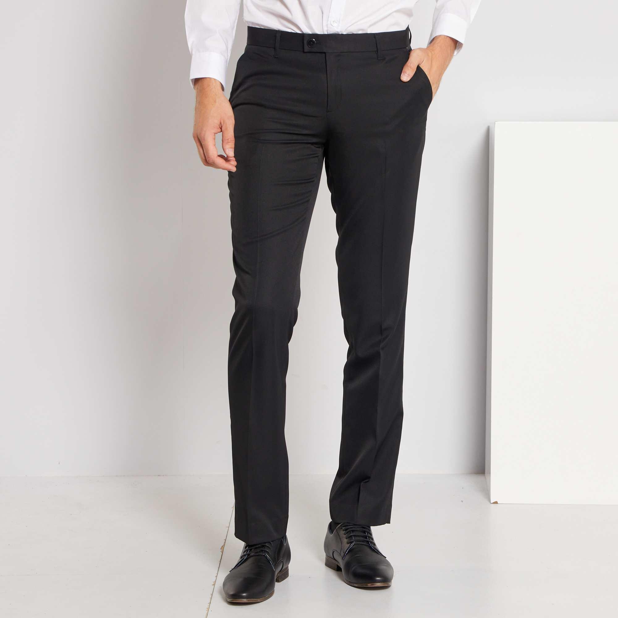 Couleur : noir, bleu marine, ,, - Taille : 50, 36, 42,46,44Une merveille à porter comme à entretenir ! - Pantalon de costume classique en