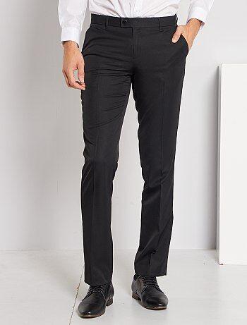 Pantalon de costume regular en twill - Kiabi