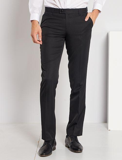 Pantalon de costume regular en twill                                         noir