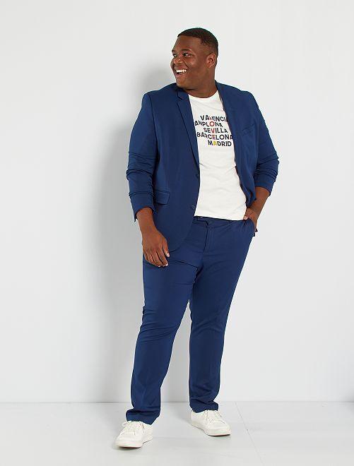 Pantalon de costume slim                                                     bleu