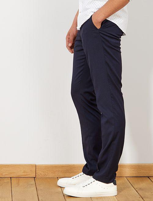 Pantalon de costume slim caviar                             bleu marine Homme