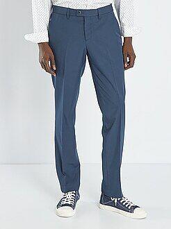 Homme du S au XXL Pantalon de costume slim en twill