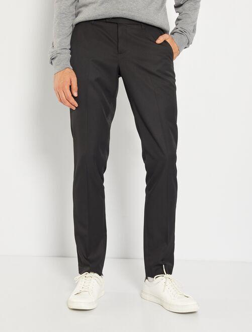 Pantalon de costume slim en twill                                                     noir