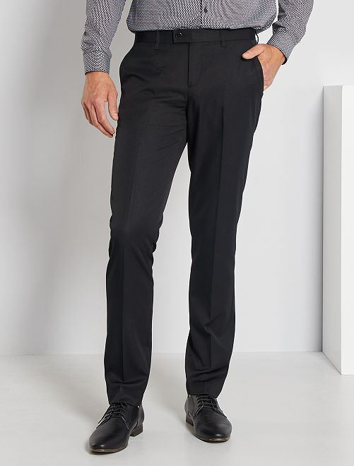 Pantalon de costume slim                                                     noir