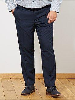 Grande taille homme Pantalon de costume uni coupe droite