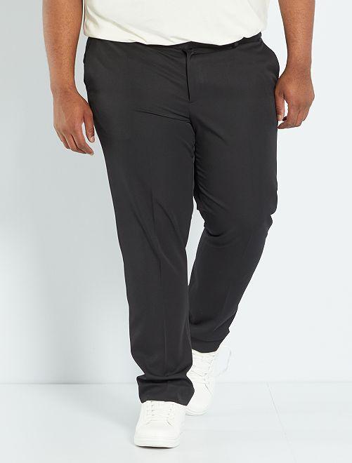 Pantalon de costume uni coupe droite                             noir