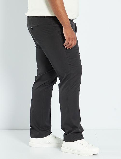 pantalon de costume uni coupe droite grande taille homme noir kiabi 20 00. Black Bedroom Furniture Sets. Home Design Ideas