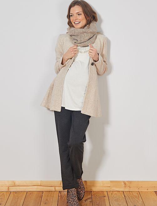 Pantalon de grossesse en maille milano                             gris