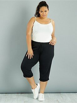 Grande taille femme Pantalon de jogging 3/4