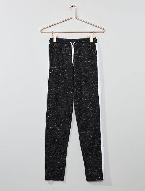 Pantalon de jogging à bande                                                                 noir chiné